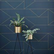 Ferm-Living-Plant-Stand-Hexagon-Pot-Messing-1